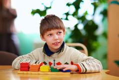 Cognitive development of kids with disabilities Royalty Free Stock Photos