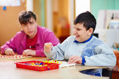 Cognitive development of kids with disabilities Stock Photography