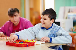 Cognitive development of kids with disabilities Royalty Free Stock Photo