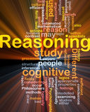 Cognitive reasoning background concept glowing Stock Photo