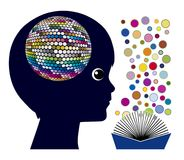 Reading affects the brain Royalty Free Stock Photo