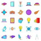 Cognizance icons set, cartoon style Stock Image
