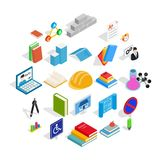Cognizance icons set, isometric style. Cognizance icons set. Isometric set of 25 cognizance vector icons for web isolated on white background Royalty Free Stock Image