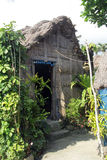 Cogondak en muur Batanes Royalty-vrije Stock Foto