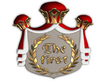 Cogratulations! Seu lugar o primeiro! Imagem de Stock Royalty Free