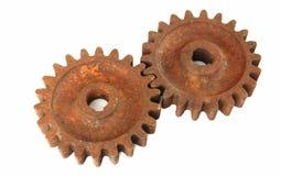 cogs ржавые стоковое изображение
