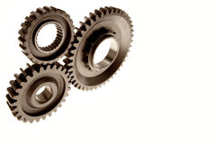 Cogs. Three cogs over white background Royalty Free Stock Photo