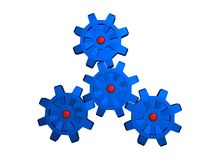 Cogs. Working together Stock Illustration