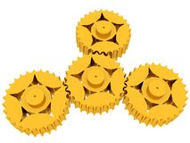 Cogs. Golden Cogs Stock Photo