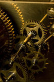 Cogs. Internal Macro of clock works royalty free stock photo