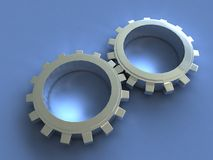 Cogs. Reflective Cogs Stock Photography