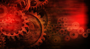 Red Cogs Abstract Business Industry Background Royalty Free Stock Image