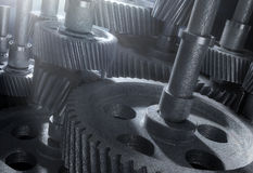 Cogs background Stock Photos