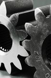 Cogs in black and white. Two cog-wheels still-life Royalty Free Stock Images