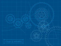 Cogs blueprint Stock Images
