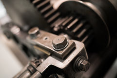 Cogs and bolt. A picture of old machinery with cogs, nuts and bolts Stock Photography