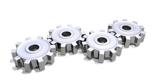 Cogs chrome. Chrome cogs for generic use or workflow or functionality stock illustration