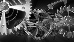 Cogs in a clock gear mechanism Stock Photo
