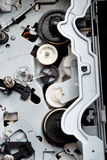 Cogs and drive in electronic equipment. Stock Image