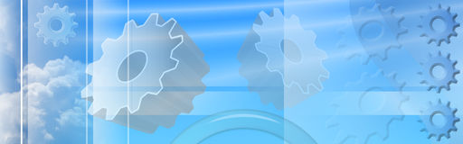 Cogs Ethereal Banner Royalty Free Stock Photo