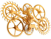 Cogs and gears. Isolated illustration of precision cogs and gears Stock Image