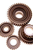 Cogs and gears. Isolated on a white background Royalty Free Stock Image