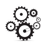 Cogs - Gears Black Illustration Stock Photos