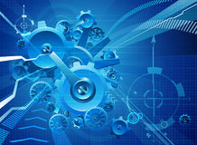 Cogs and Gears Blue Business Background Royalty Free Stock Photo