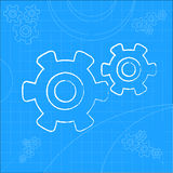 Cogs And Gears Icon Vector Illustration Royalty Free Stock Image