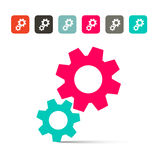 Cogs - Gears Icons royalty free illustration
