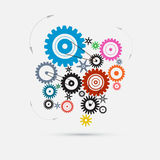 Cogs - Gears Illustration Royalty Free Stock Images