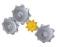 Cogs gears illustration. An illustration of metal machinery machine cogs or gears Stock Photo