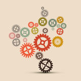 Cogs - Gears Illustration Royalty Free Stock Photo