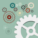 Cogs - Gears Retro Illustration Royalty Free Stock Photography