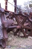 Cogs or gears. Rusty Gears or cogs in outdoor area stock photos