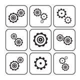 Cogs - Gears Set Illustration Stock Photos