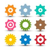 Cogs - Gears Set. Vector og Icon. Gear Symbol Isolated vector illustration