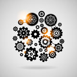 Cogs and gears. Teamwork concept or symbol vector illustration Royalty Free Stock Photo