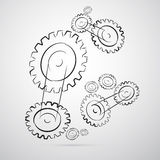Cogs - Gears Vector Illustration. On Grey Background vector illustration