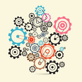 Cogs - Gears Vector Royalty Free Stock Image