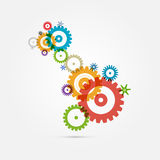 Cogs - Gears on White Background Royalty Free Stock Photos