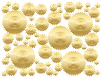 Cogs Golden Gear Wheels Royalty Free Stock Photo