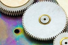 Cogs i koło szczegół Przekładnia mechanizm Makro- Zdjęcie Stock