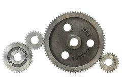 Cogs. Isolated on white background Stock Photos