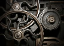 Cogs in a machine Royalty Free Stock Images