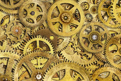 Cogs Machine. Composite of old clock cogs Stock Photos