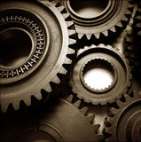 Cogs. Metal cog wheels bonding together Stock Images