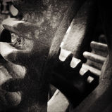 Cogs. Metal cog wheels bonding together Royalty Free Stock Images
