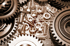Cogs, nuts and olts Royalty Free Stock Images