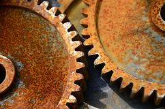 Cogs. Old cogwheels, is no longer in use, rust on the surface Royalty Free Stock Photography